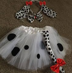 Dalmatian Costume Dalmatian 3 piece Outfit Dalmatian Tutu