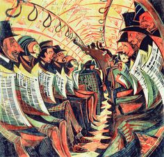 Cyril E. Power The Tube Train 1934 Cyril E Power created the four colour linocut print, The Tube Train, in 1934 to communicate his ideas of the celebration of modern city life. Study the image shown in Source and using art terminology, describe how Pow Harlem Renaissance, London Underground, Sybil Andrews, Linocut Prints, Art Prints, Dulwich Picture Gallery, Nam June Paik, Tube Train, George Grosz