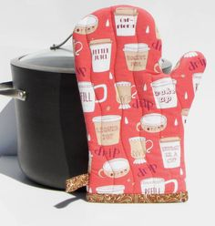 Coffee pot holder,quilted oven glove,Insulated pot holder,kitchen oven mitt, handmade by fabricfundesigns on Etsy