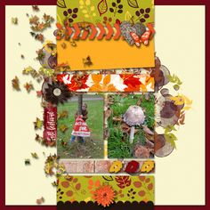 Fall Festive - Digital Scrapbook Layout I created using Feels like fall by Mandy King at Gingerscraps and Gotta Pixel and the November Nonsens Template Set by Mandy King. Get the Template Set as a FWP Free With Purchase gift if you Spent $5 at Mandy's Stores this weekend. I love blocked design of the template and the Fall colors and elements of the kit.