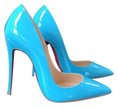 Get the must-have pumps of this season! These Christian Louboutin Blue So Kate Pacific Patent Stiletto Pumps Size EU 35 (Approx. Save on yours before they're sold out! Louboutin Shoes Women, Black Louboutin Heels, Christian Louboutin Shoes, Patent Heels, Stiletto Pumps, Cute Shoes, Me Too Shoes, Womens High Heel Boots, Blue Pumps