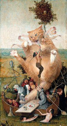 """fatcatartru: """" The Ship of April Fools: Hieronymus Bosch, The Ship of Fools, true version """""""