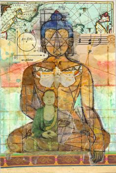 Very beautiful. I love the way he shows his aspects from top to bottom that makes him whole. :) True Adventures of an Art Addict: Deconstructed Reconstituted Buddha (With a Cherry on Top) Buddha Kunst, Buddha Zen, Gautama Buddha, Buddha Buddhism, Tibetan Buddhism, Buddhist Art, Psychedelic Art, Namaste, Kunst Online