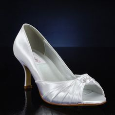 DYEABLES IDA WHITE Wedding and Bridesmaids Shoes WHITE Bridal Shoes, IVORY Bridal Shoes