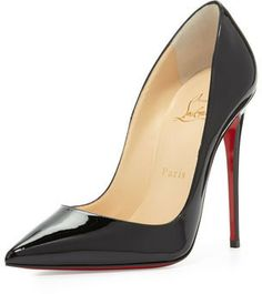 Christian Louboutin So Kate Patent Red Sole Pump, Black on shopstyle.com