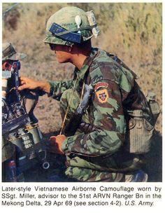 SSgt Miller, advisor to 51st ARVN Ranger Bn, Mekong Delta, Apr 29, 1969. ~ Vietnam War
