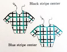 Working with plaid and getting it right! plaid-stripe-placement
