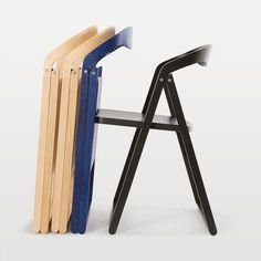 Silla moderna / plegable / de haya / de madera tintada PATAN by Tomoko Azumi Zilio Aldo
