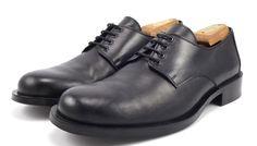 Versace Mens Shoes 41.5, 8.5 US Leather Plain Toe Oxfords 1179 Black