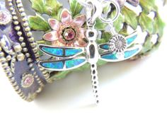 Dragonfly Opal Necklace, Opal Jewelry, Charm Necklace, Stone Necklace, Bug Jewelry. A320 on Etsy, $38.00