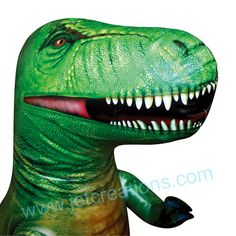 Up close and personal with our T-Rex. Watch out for those teeth....