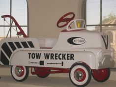 Rare Vintage Original 1950 'S Amf Bmc Cab Over GMC Tow Wrecker Pedal Car Truck. $1,650.00, via Etsy.