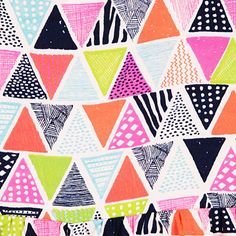 print & pattern: Search results for kids Graphic Patterns, Textile Patterns, Textile Design, Pattern Paper, Pattern Art, Surface Design, Triangle Pattern, Kawaii, Pretty Patterns