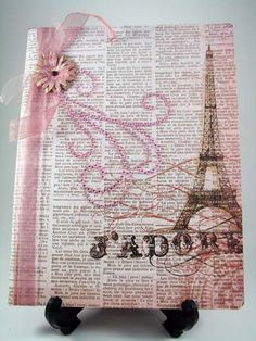 J'Adore - I Adore You Altered Composition Notebook Journal Covers, Book Journal, Altered Books, Altered Art, Altered Composition Notebooks, Weekend Crafts, Diy Notebook, Painted Books, Handmade Journals
