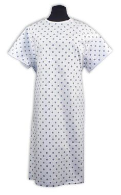 Demure Print Hospital Gown - Pack Of 4, 2015 Amazon Top Rated Patient Gowns…