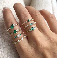 Anéis de esmeralda