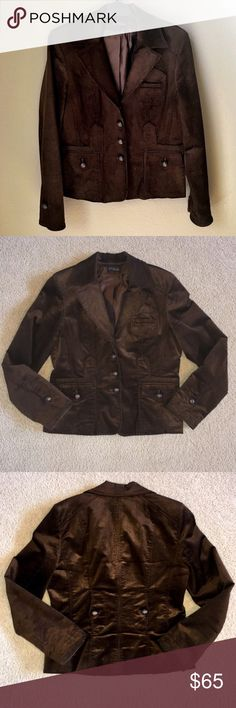 Juliana Chocolate Brown Corduroy Jacket Gorgeous jacket...super soft and versatile...roll up sleeves padded shoulders soft lining. I am selling it in what I consider to be excellent pre owned condition. Jackets & Coats Blazers