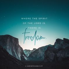 2 Corinthians Now the Lord is the Holy Spirit. And where the Spirit of the Lord is, freedom is also there. Bible Scriptures, Bible Quotes, Scripture Images, Qoutes, Saint Esprit, In God We Trust, Daily Bible, Jesus Freak, Verse Of The Day