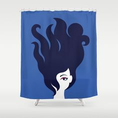 The Octopus Haircut Shower Curtain