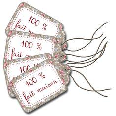 La petite étiquette aussi en cadeau assorties aux petits coffrets gourmands