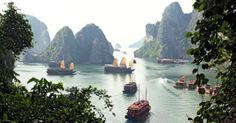 Halong Bay, Vietnam! Saw this on a episode of top gear!! It was so funny.