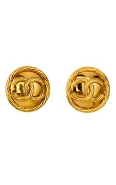 Vintage Chanel Plaque Earrings $795 by herminia