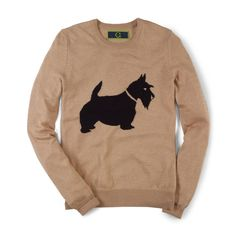 Scottie Dog Intarsia Sweater