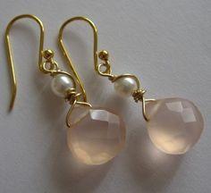 Peachy Rose Chalcedony Earrings https://www.etsy.com/listing/27477828/peachy-rose-chalcedony-earrings?ga_search_query=peach