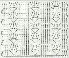 The Trellis Stripe uses just one main stitch to create a slightly lacy and very pretty crochet blanket. Crochet Scarf Diagram, Crochet Stitches Chart, Crochet Scarf Easy, Crochet Wool, Crochet Motifs, Filet Crochet, Stitch Patterns, Knitting Patterns, Crochet Patterns