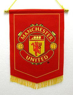Official Manchester United Man UTD Red Devil Embroidered Pennant Wall Flag in Sports Memorabilia, Football Memorabilia, Pennants/ Flags English Football League, Football Fans, Manchester United Old Trafford, Soccer Room, Christmas Presents For Dad, Kids Bedroom Storage, Football Memorabilia, Pennant Flags, Manchester United Football