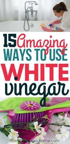 White vinegar uses -