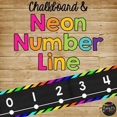 Line Classroom Decor Chalkboard & Neon Black to Are you looking for a way to display a number line that is cute but also easy to read? This is perfect for your classroom and has a BRIGHT BLACK NEON and CHALKBOARD THEME!