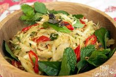 SOM TAM: THAI PAPAYA SALAD  FULL RECIPES: http://bit.ly/2wdGBUM