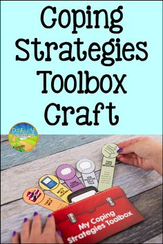 Coping Strategies Toolbox Lesson and Craft Counseling Activities, Speech Therapy Activities, School Counseling, Emotional Child, Social Emotional Learning, Coping Skills, Social Skills, Social Work, Play Therapy Techniques