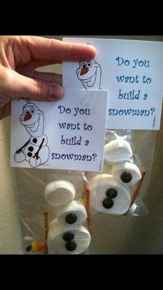 Marshmallow snowmen.