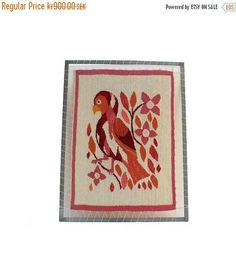 15% OFF Beautiful vintage retro textile artwork: wall hanging