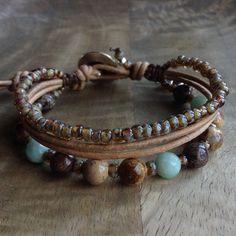 17cm wristBohemian bracelet boho chic bracelet beach bracelet womens jewelry gift for her boho bracelet surf bracelet beaded bracelet by Thebohoflow on Etsy