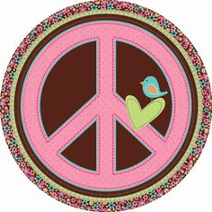 Hippie Chick Peace Owl Retro Birthday Party Favor Light-Up Flower Ring 2 COLORS