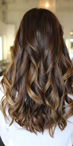 Caramel Highlights for Long Hair 2016