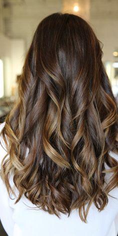 Caramel Highlights for Long Hair 2016