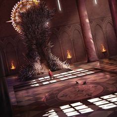 Game of thrones The Iron Throne Cersei Lannister, Jaime Lannister, Game Of Thrones Artwork, Game Of Thrones Tv, Game Of Thrones Houses, Game Of Thones, Arte Obscura, Fire Art, Fantasy Places