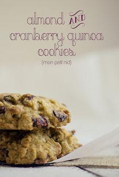 almond cranberry quinoa cookies