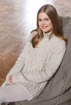 Lana Grossa PULLI IM ZOPF-RAUTENMUSTER Royal Tweed - FILATI Handstrick No. 62 (Home)  - Modell 41 | FILATI.cc WebShop