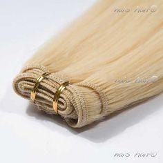 $92.95  Mega Hair Cabelo Tecido #613 (Bleach Blonde)