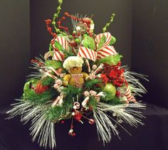 Christmas Floral Arrangement Centerpiece by LuxeWreaths on Etsy