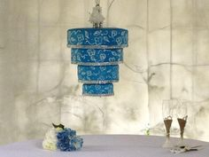 Make your event unforgettable using our patented hanging chandelier cake stand. Sturdy and easy to assemble, this cake stand is reusable. Chandelier Cake Stand, Hanging Chandelier, Chandelier Wedding, Wedding Cake Stands, Unique Wedding Cakes, Beautiful Cakes, Amazing Cakes, Cake Structure, Harry Potter Wedding