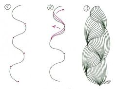 Zentangle 禪繞畫 艷 yen style 教學