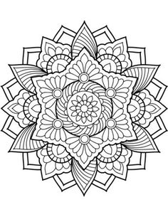Mandala Free Coloring Pages. 20 Mandala Free Coloring Pages. Coloring Pages Mandala From Free Coloring Books for Adults Flower Coloring Pages, Mandala Coloring Pages, Coloring Pages To Print, Coloring Book Pages, Coloring Sheets, Pattern Coloring Pages, Mandalas Painting, Mandalas Drawing, Mandalas To Color