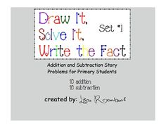 addition and subtraction story problems for k-1 (pdf)