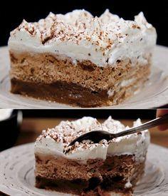 Greek Sweets, Greek Desserts, Frozen Desserts, Easy Desserts, Greek Cake, Armenian Recipes, Tasty Videos, Sweets Cake, Pastry Cake
